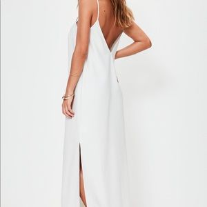 Misguided white cami maxi dress